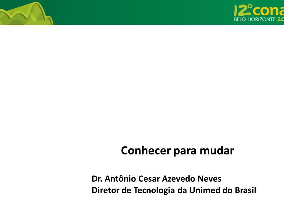 Conhecer para mudar Dr. Antônio Cesar Azevedo Neves Diretor de Tecnologia da Unimed do Brasil