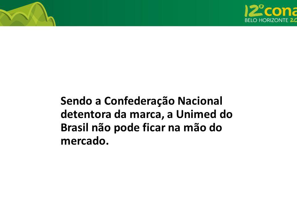 Sendo a Confederação Nacional detentora da marca, a Unimed do Brasil não pode ficar na mão do mercado.