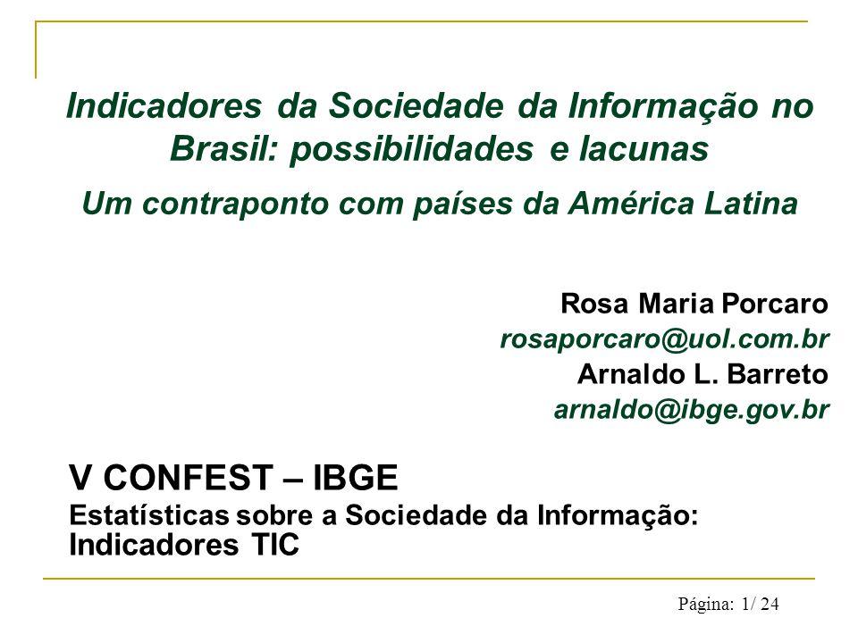 Página: 1/ 24 Rosa Maria Porcaro rosaporcaro@uol.com.br Arnaldo L.