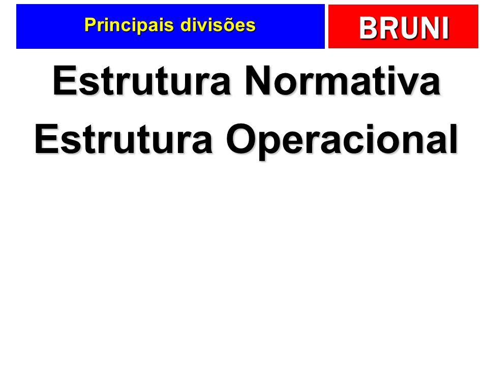 BRUNI Principais divisões Estrutura Normativa Estrutura Operacional