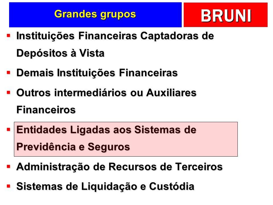 BRUNI Grandes grupos Instituições Financeiras Captadoras de Depósitos à Vista Instituições Financeiras Captadoras de Depósitos à Vista Demais Institui