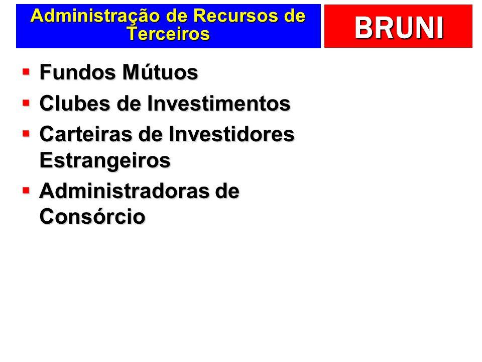 BRUNI Administração de Recursos de Terceiros Fundos Mútuos Fundos Mútuos Clubes de Investimentos Clubes de Investimentos Carteiras de Investidores Est