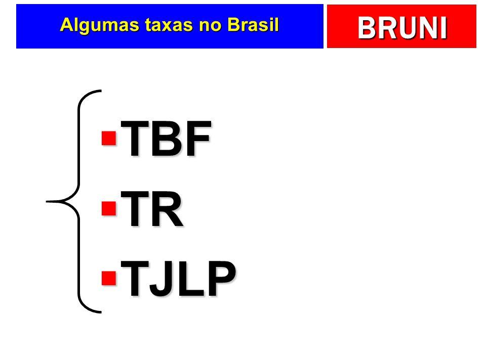 BRUNI Algumas taxas no Brasil TBF TBF TR TR TJLP TJLP