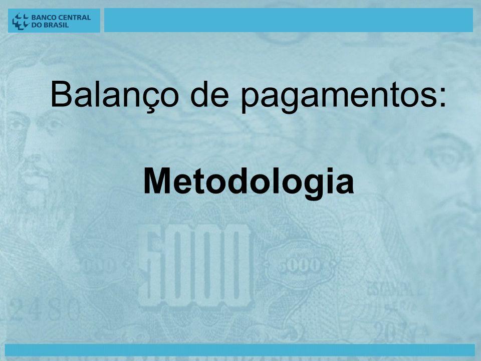 Balanço de pagamentos: Metodologia