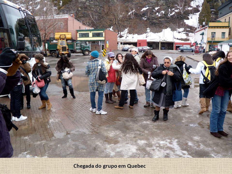 Chegada do grupo em Quebec