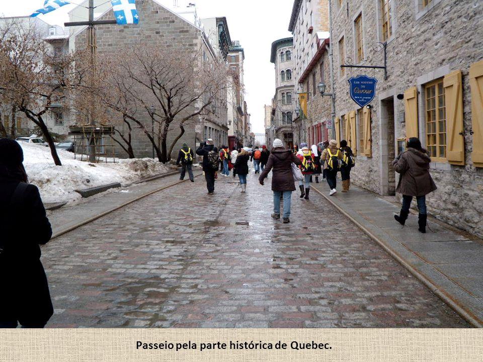 Passeio pela parte histórica de Quebec.