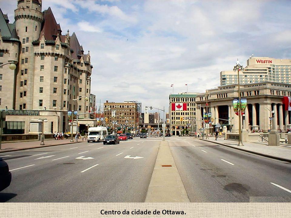 Centro da cidade de Ottawa.