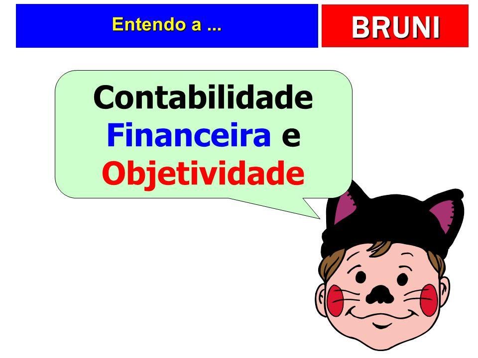 BRUNI g) Prudência O princípio da prudência determina a adoção do menor valor para os componentes do Ativo e do maior valor para os componentes do Pas