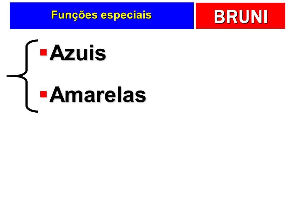 BRUNI Funções especiais Azuis Azuis Amarelas Amarelas