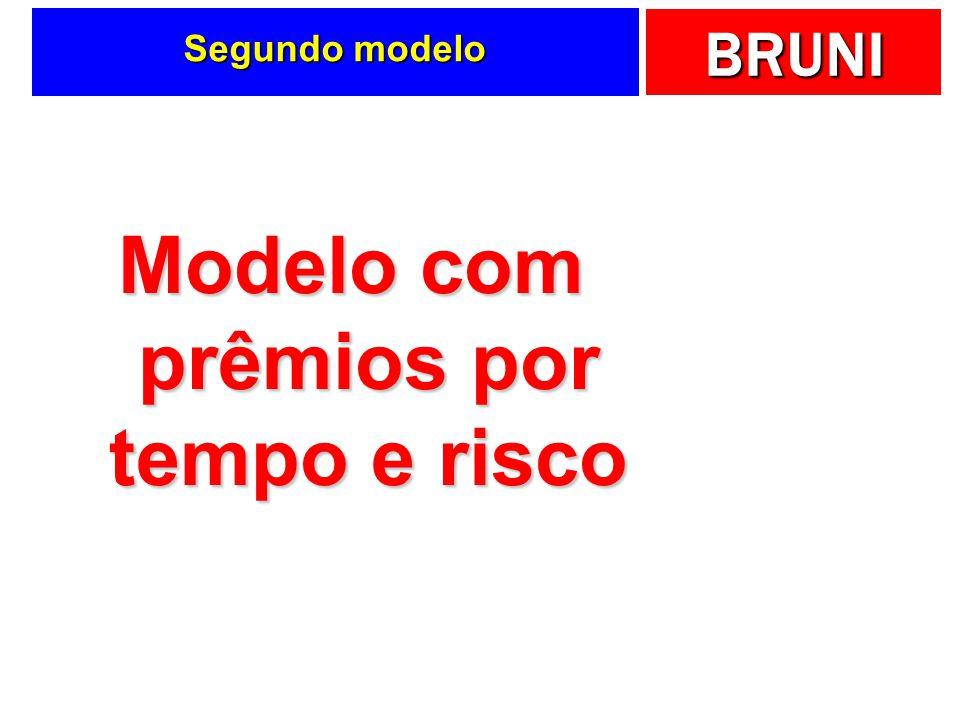 BRUNI Segundo modelo Modelo com prêmios por tempo e risco