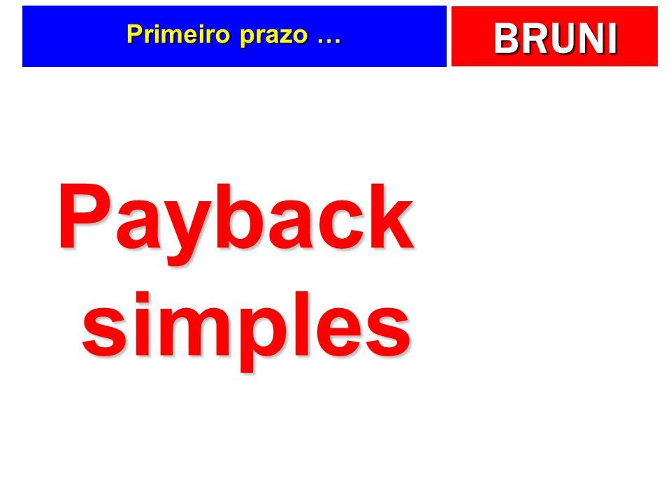 BRUNI Primeiro prazo … Payback simples