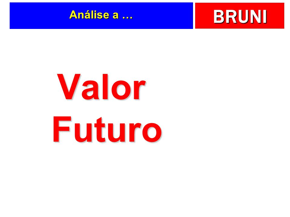 BRUNI Análise a … Valor Futuro