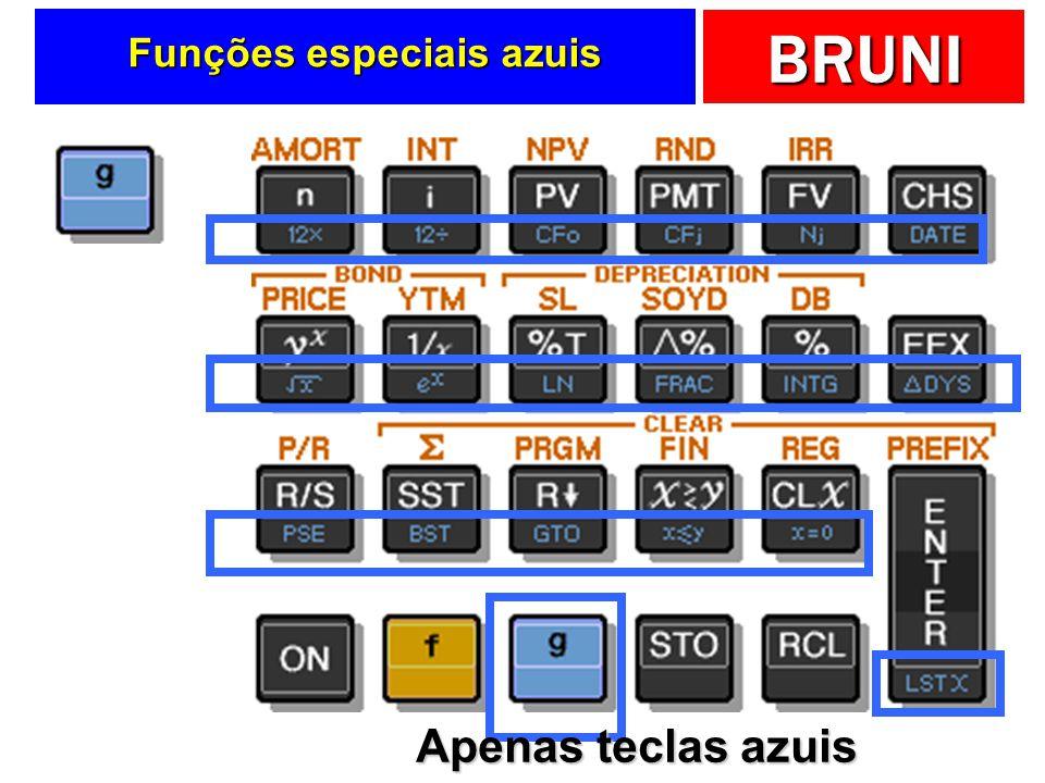 BRUNI Funções especiais azuis Apenas teclas azuis