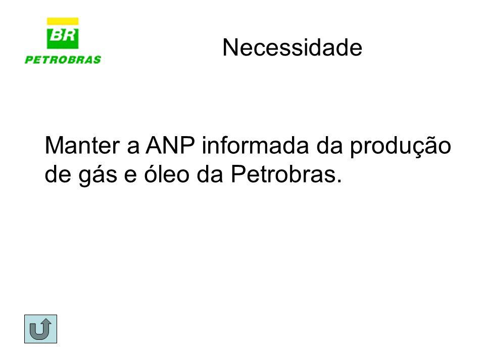 Necessidade Manter a ANP informada da produção de gás e óleo da Petrobras.