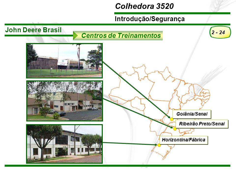 TREINAMENTO Pós-Vendas John Deere Brasil – Todos os direitos reservados. Material elaborado em Outubro/2008. A John Deere Brasil reserva-se ao direito