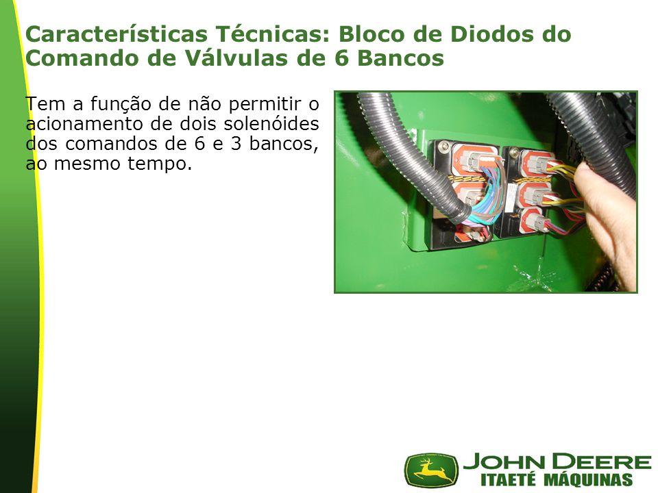 | Características Técnicas: Bloco de Diodos do Comando de Válvulas de 6 Bancos Tem a função de não permitir o acionamento de dois solenóides dos coman