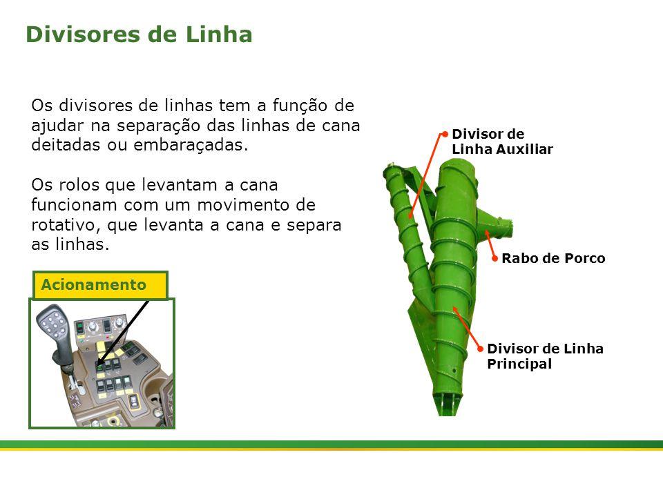 |Colhedora de Cana 3520 & 3522 : Divisores de Linhas e Tombadores | Janeiro, 201013 Bomba de Engrenagem Múltipla 1 Os divisores de linhas são acionados através da bomba hidráulica (1).