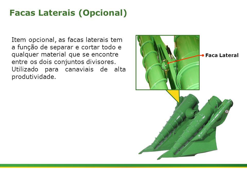 |Colhedora de Cana 3520 & 3522 : Divisores de Linhas e Tombadores | Janeiro, 20105 A função das sapatas é direcionar o fluxo de cana para o centro do corte de base, buscando melhorar a qualidade da operação.