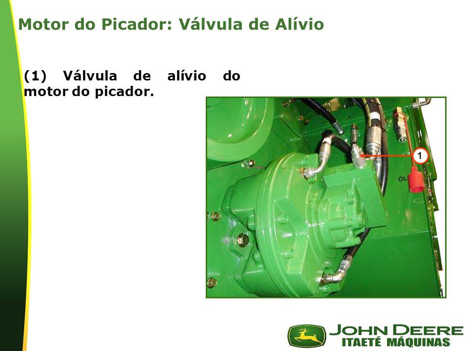 | 1 (1) Válvula de alívio do motor do picador. Motor do Picador: Válvula de Alívio