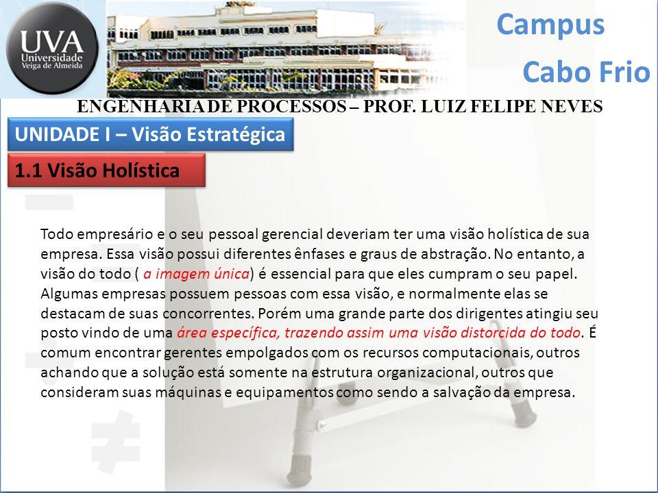 Campus Cabo Frio Todo empresário e o seu pessoal gerencial deveriam ter uma visão holística de sua empresa. Essa visão possui diferentes ênfases e gra
