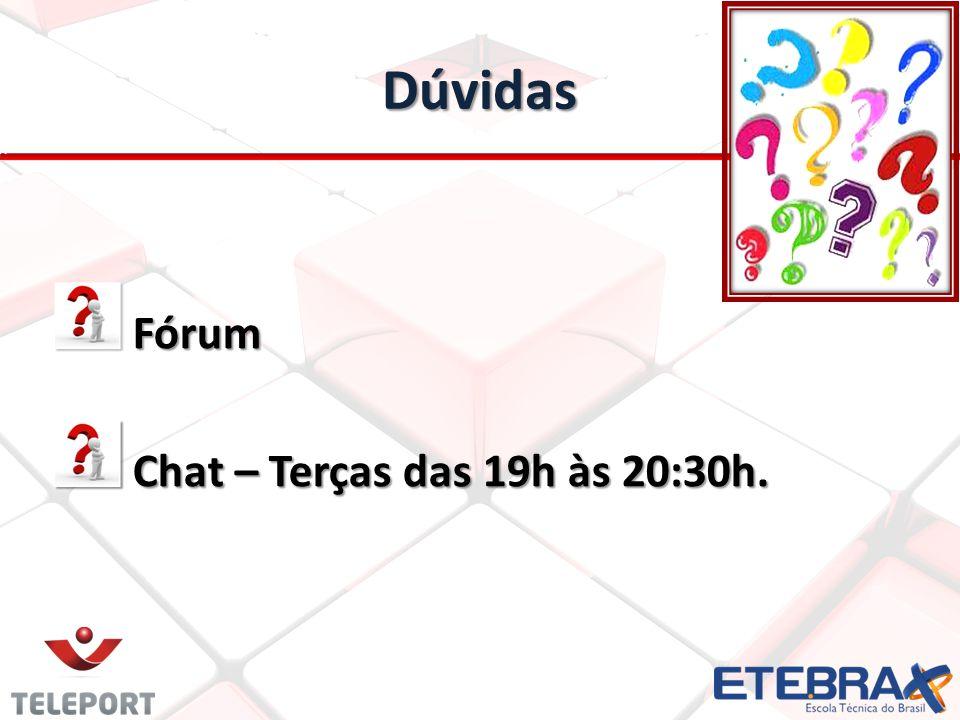 Fórum Fórum Chat – Terças das 19h às 20:30h. Chat – Terças das 19h às 20:30h. Dúvidas
