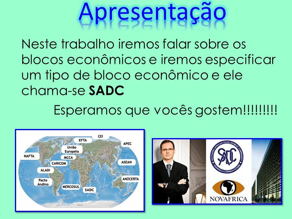 Neste trabalho nós concluimos que os blocos econ6omicos são muito importante para os países.