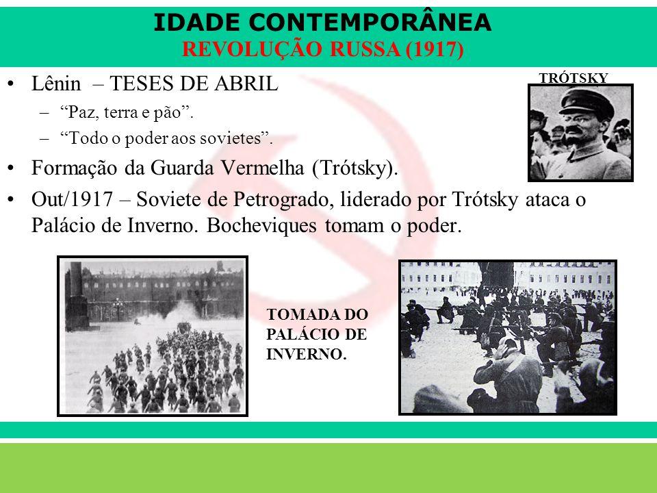 IDADE CONTEMPORÂNEA Sartre COC lenefidelis@terra.com.br REVOLUÇÃO RUSSA (1917) Lênin – TESES DE ABRIL –Paz, terra e pão.