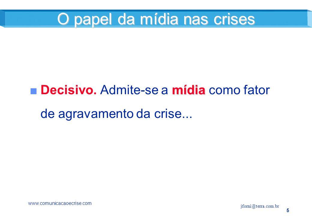 5 mídiaDecisivo.Admite-se a mídia como fator de agravamento da crise...