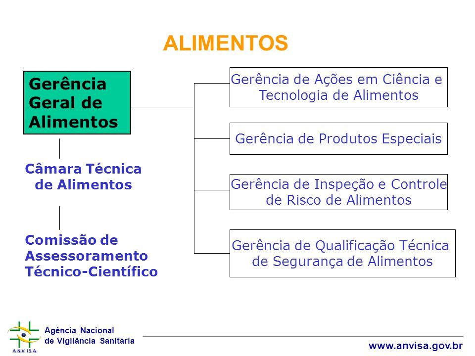 Agência Nacional de Vigilância Sanitária www.anvisa.gov.br ALIMENTOS Gerência Geral de Alimentos Câmara Técnica de Alimentos Comissão de Assessorament