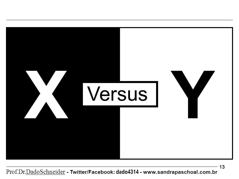 13 XY Versus Prof.Dr.DadoSchneider - Twitter/Facebook: dado4314 - www. sandrapaschoal.com.br