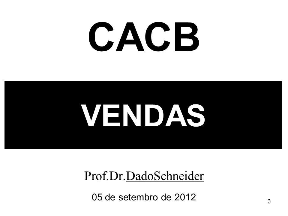 3 VENDAS Prof.Dr.DadoSchneider 05 de setembro de 2012 CACB