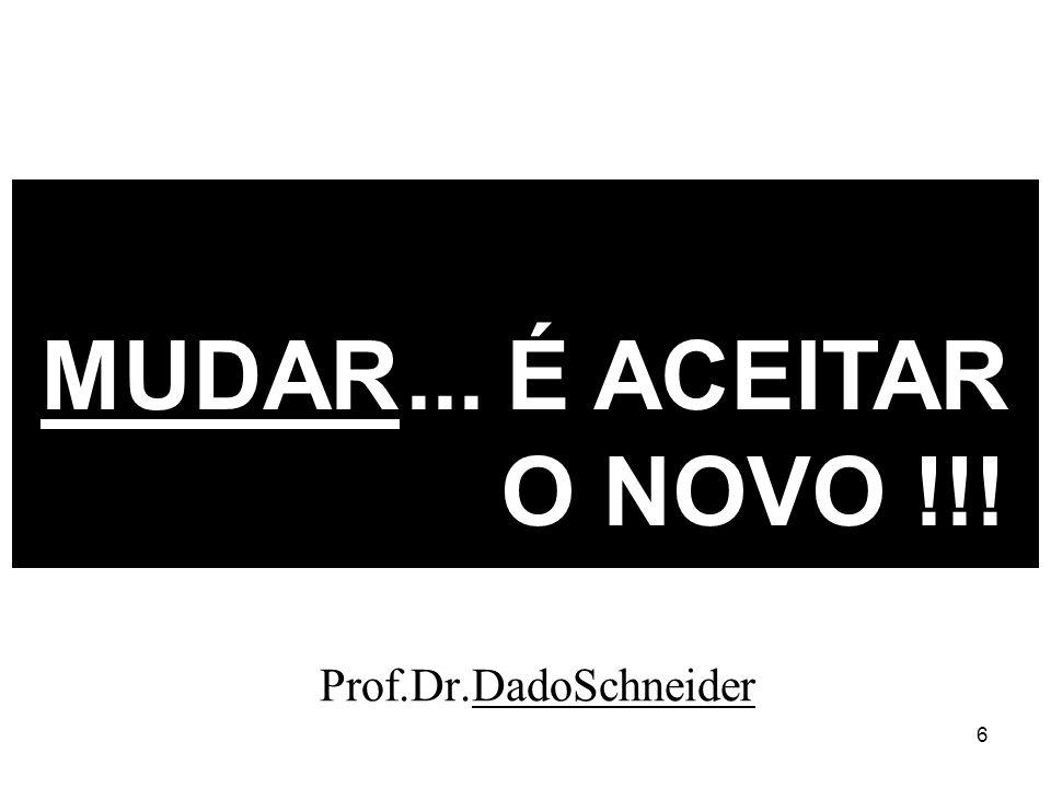 6 MUDAR... É ACEITAR O NOVO !!! Prof.Dr.DadoSchneider