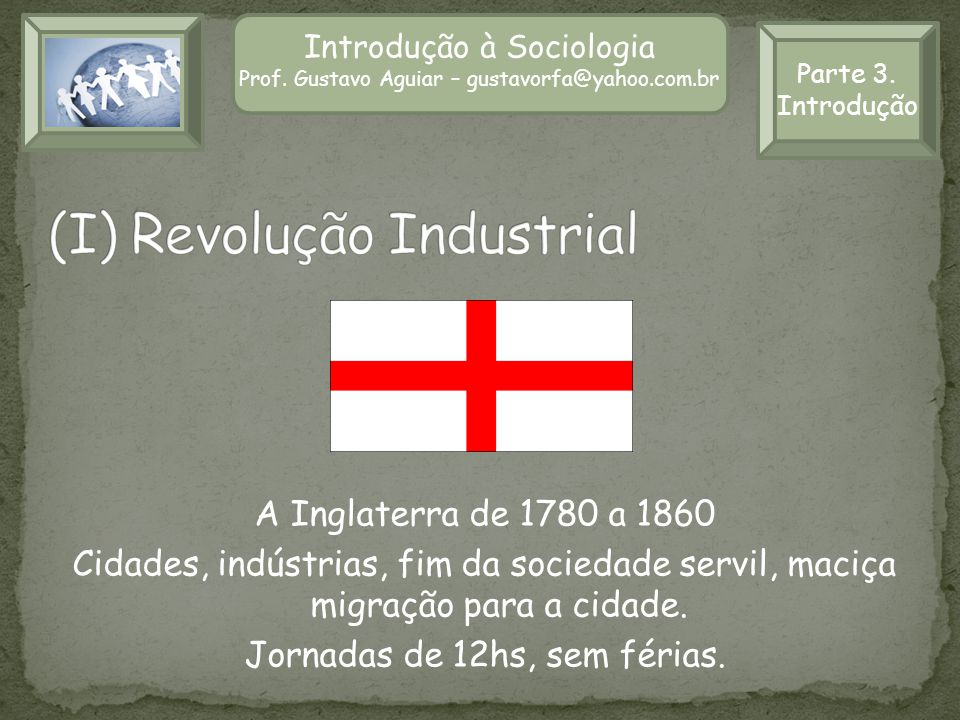 Introdução à Sociologia Prof. Gustavo Aguiar – gustavorfa@yahoo.com.br Parte 3. Introdução