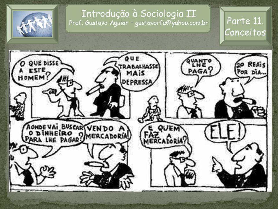 Introdução à Sociologia II Prof. Gustavo Aguiar – gustavorfa@yahoo.com.br Parte 11. Conceitos