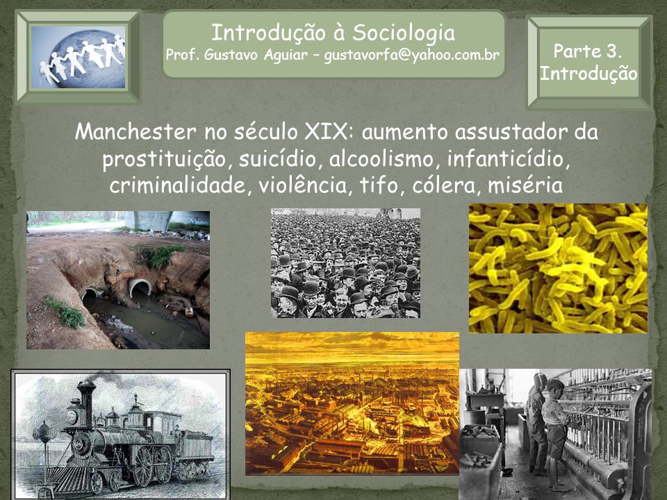 Introdução à Sociologia Prof. Gustavo Aguiar – gustavorfa@yahoo.com.br Introdução à Sociologia Prof. Gustavo Aguiar – gustavorfa@yahoo.com.br Manchest