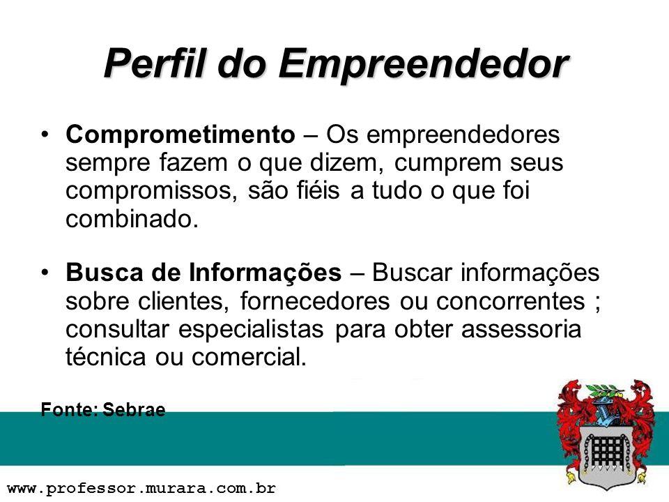 Perfil do Empreendedor Comprometimento – Os empreendedores sempre fazem o que dizem, cumprem seus compromissos, são fiéis a tudo o que foi combinado.