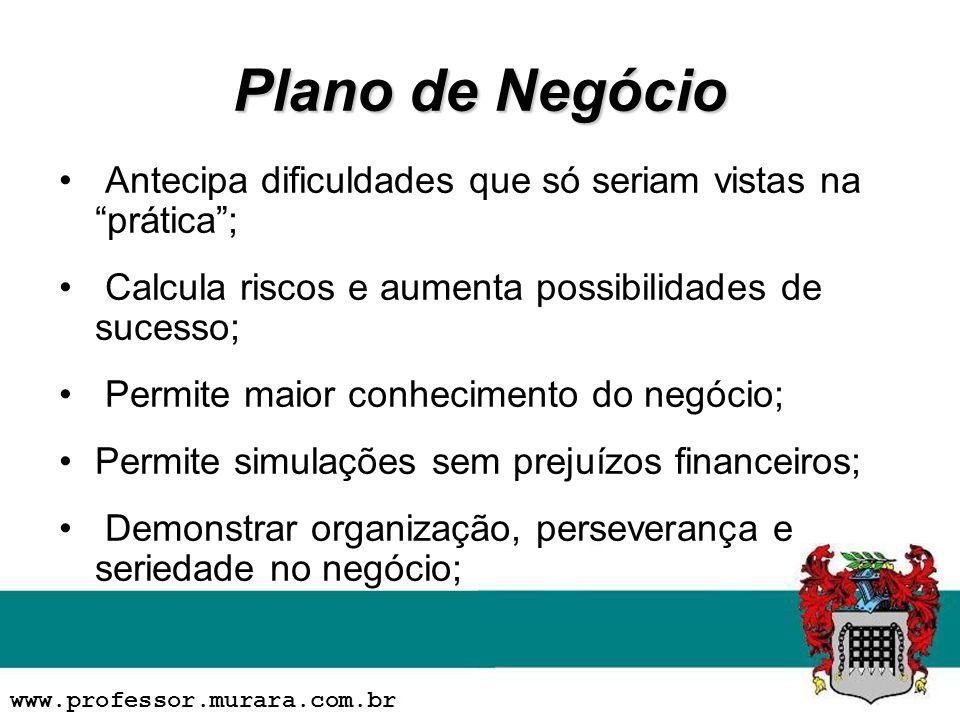 Plano de Negócio Antecipa dificuldades que só seriam vistas na prática; Calcula riscos e aumenta possibilidades de sucesso; Permite maior conhecimento