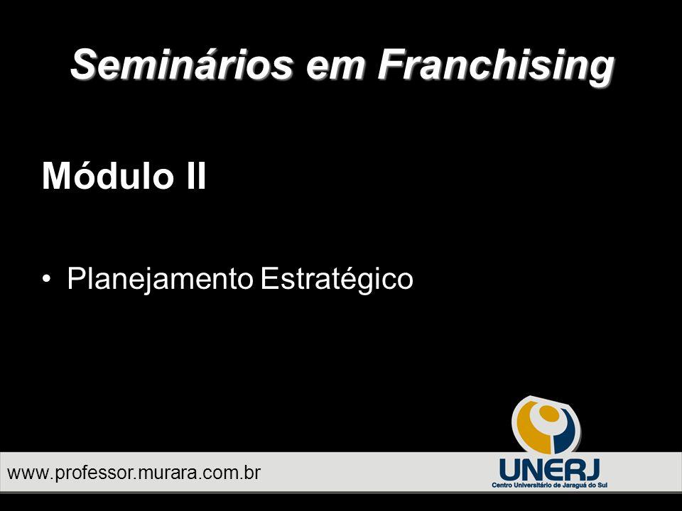 Módulo II Planejamento Estratégico Seminários em Franchising www.professor.murara.com.br