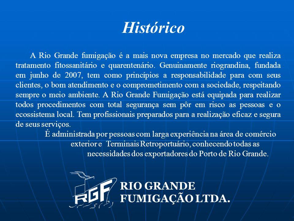 Histórico A Rio Grande fumigação é a mais nova empresa no mercado que realiza tratamento fitossanitário e quarentenário. Genuinamente riograndina, fun