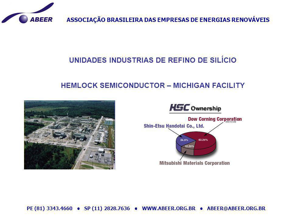 ASSOCIAÇÃO BRASILEIRA DAS EMPRESAS DE ENERGIAS RENOVÁVEIS PE (81) 3343.4660 SP (11) 2828.7636 WWW.ABEER.ORG.BR ABEER@ABEER.ORG.BR UNIDADES INDUSTRIAS
