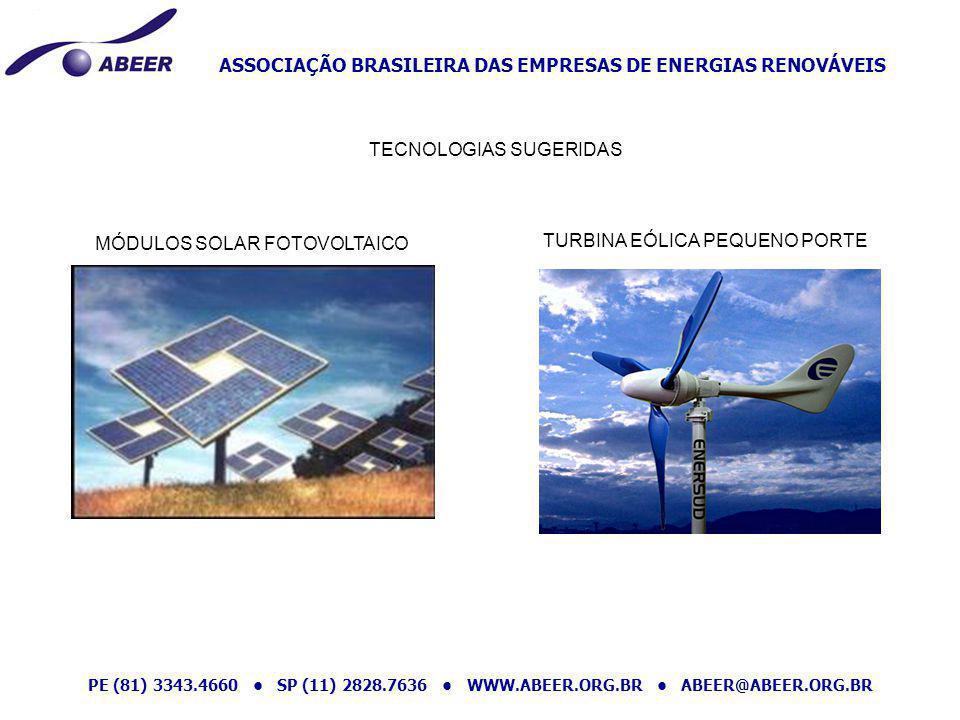 ASSOCIAÇÃO BRASILEIRA DAS EMPRESAS DE ENERGIAS RENOVÁVEIS PE (81) 3343.4660 SP (11) 2828.7636 WWW.ABEER.ORG.BR ABEER@ABEER.ORG.BR MÓDULOS SOLAR FOTOVO