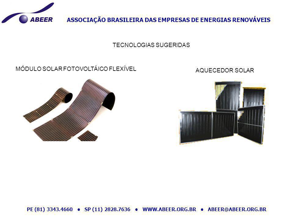 ASSOCIAÇÃO BRASILEIRA DAS EMPRESAS DE ENERGIAS RENOVÁVEIS PE (81) 3343.4660 SP (11) 2828.7636 WWW.ABEER.ORG.BR ABEER@ABEER.ORG.BR MÓDULO SOLAR FOTOVOL