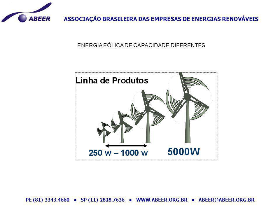 ASSOCIAÇÃO BRASILEIRA DAS EMPRESAS DE ENERGIAS RENOVÁVEIS PE (81) 3343.4660 SP (11) 2828.7636 WWW.ABEER.ORG.BR ABEER@ABEER.ORG.BR ENERGIA EÓLICA DE CA