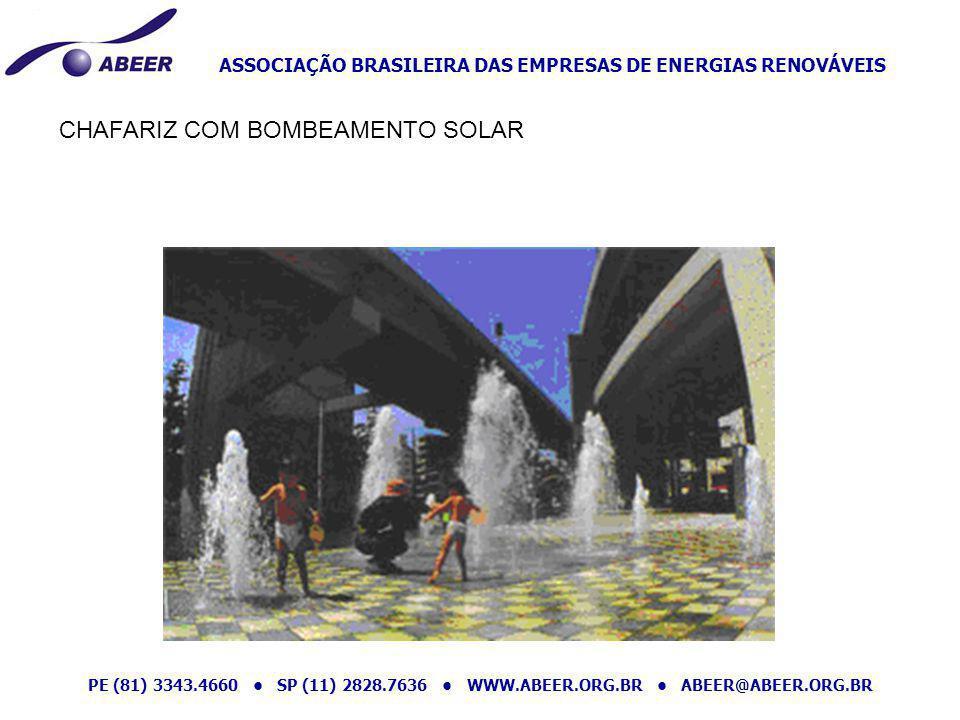 ASSOCIAÇÃO BRASILEIRA DAS EMPRESAS DE ENERGIAS RENOVÁVEIS PE (81) 3343.4660 SP (11) 2828.7636 WWW.ABEER.ORG.BR ABEER@ABEER.ORG.BR CHAFARIZ COM BOMBEAM