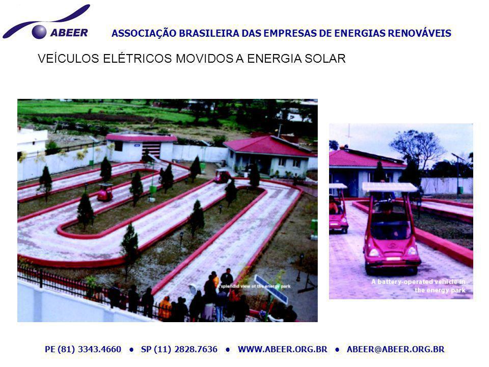 ASSOCIAÇÃO BRASILEIRA DAS EMPRESAS DE ENERGIAS RENOVÁVEIS PE (81) 3343.4660 SP (11) 2828.7636 WWW.ABEER.ORG.BR ABEER@ABEER.ORG.BR VEÍCULOS ELÉTRICOS M
