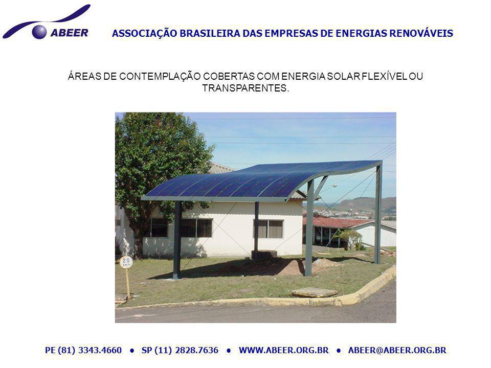 ASSOCIAÇÃO BRASILEIRA DAS EMPRESAS DE ENERGIAS RENOVÁVEIS PE (81) 3343.4660 SP (11) 2828.7636 WWW.ABEER.ORG.BR ABEER@ABEER.ORG.BR ÁREAS DE CONTEMPLAÇÃ