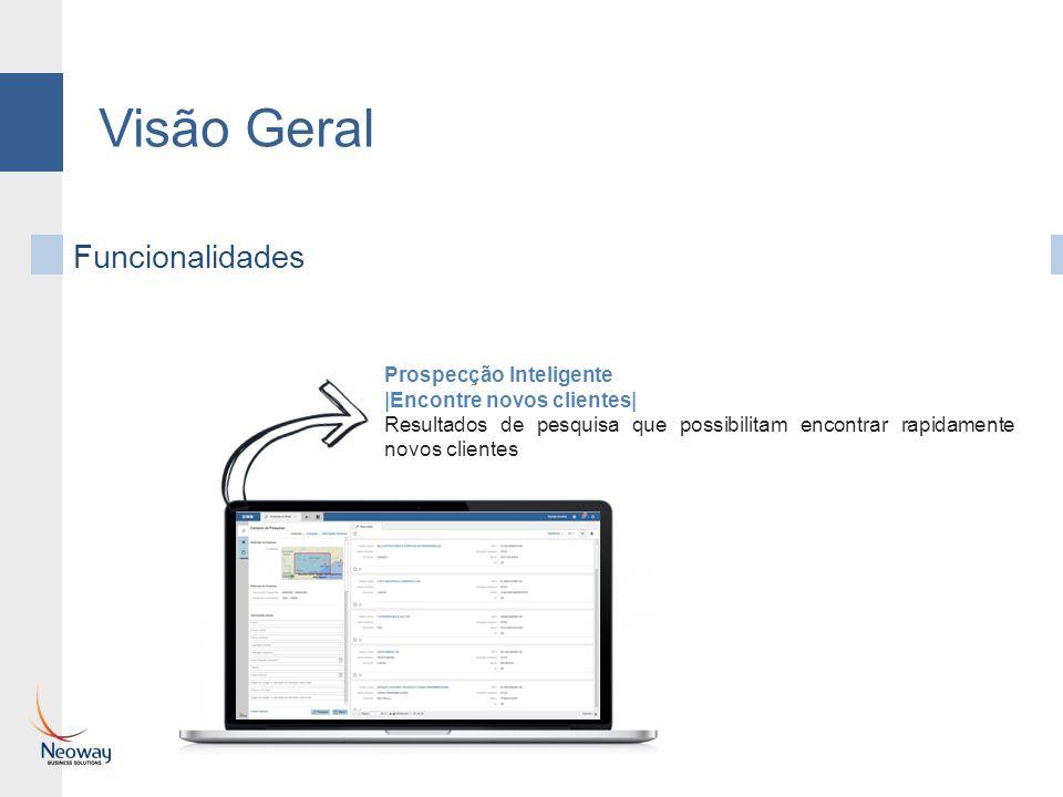 Visão Geral Funcionalidades Prospecção Inteligente |Encontre novos clientes| Resultados de pesquisa que possibilitam encontrar rapidamente novos clien