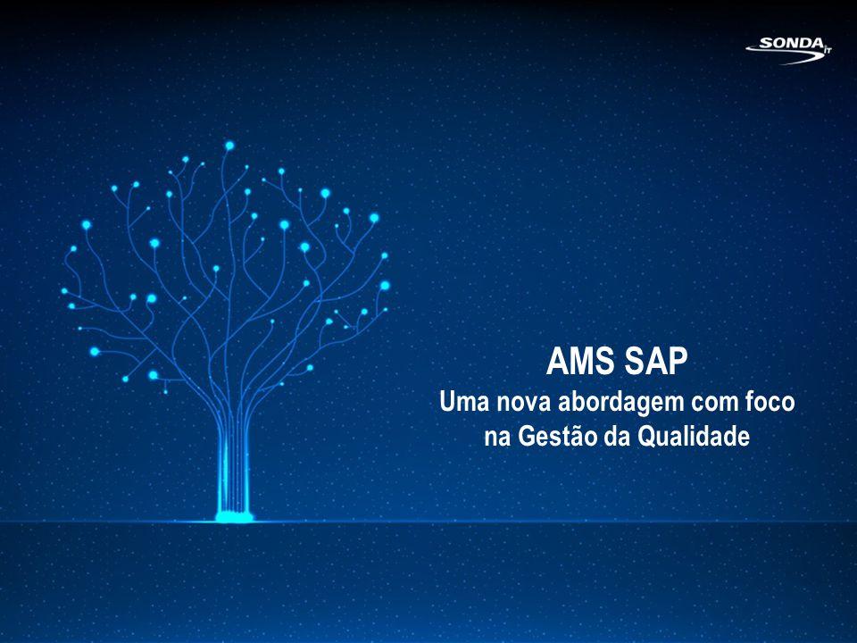 AMS SAP - Sonda IT + de 30 mil atendimentos realizados (2012) Equipe exclusiva e certificada + de 15 anos de experiência em AMS Certificação ISO9001:2008 e SAP Única Full SAP Provider