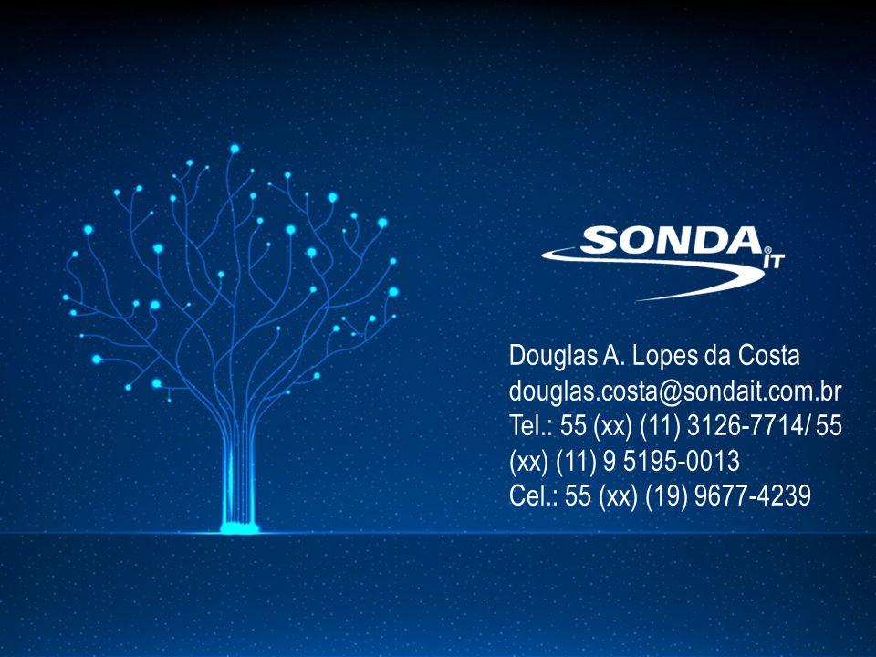 Douglas A. Lopes da Costa douglas.costa@sondait.com.br Tel.: 55 (xx) (11) 3126-7714/ 55 (xx) (11) 9 5195-0013 Cel.: 55 (xx) (19) 9677-4239