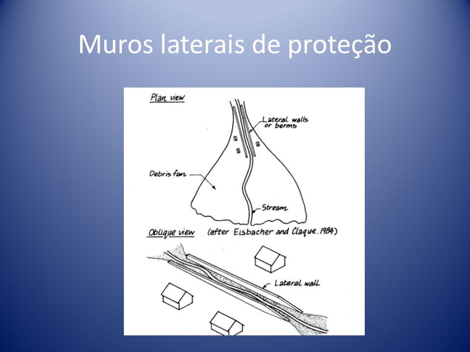 Muros laterais de proteção